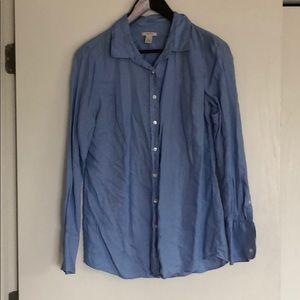 JCrew light blue linen shirt